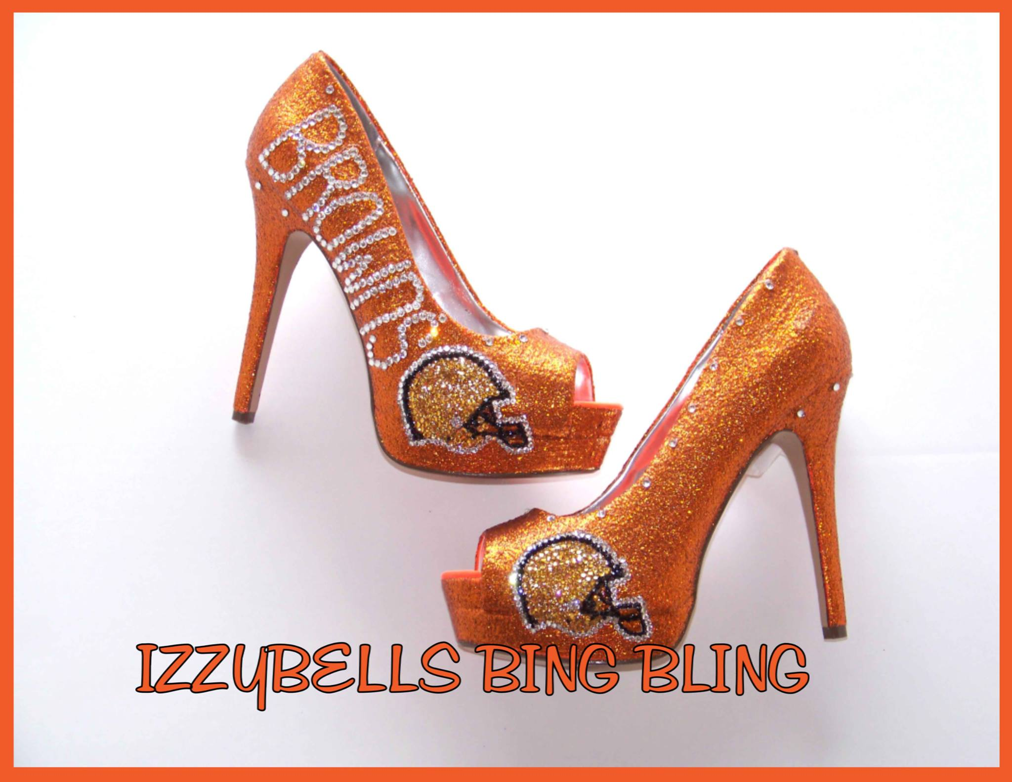 Brown Bling Heels-